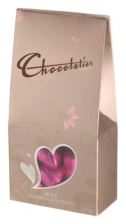 Milk Chocolate Hearts Foiled Pink