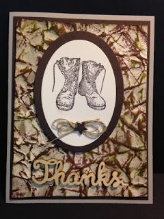 For Your Country, Masculine Card, Camouflage Stamping  Technique, Stampin' Up!, Rubber Stamping, Handmade Cards