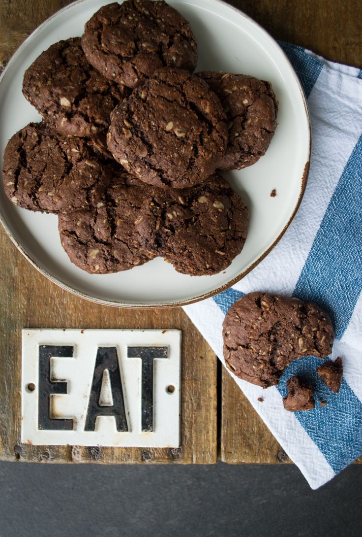 "Cookie Monster - These cookies are really nourishing, very chocolatey and an easy to make lunchbox treat. You'll be asking ""Who stole the cookie from the cookie jar?"" Suitable for wheat-free, dairy-free, gluten-free, nut-free, egg-free."