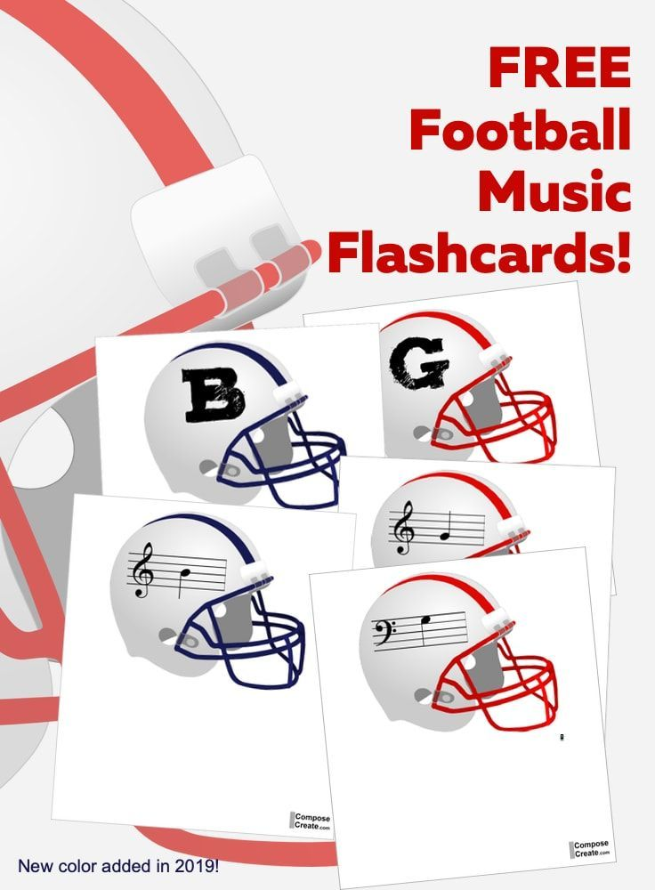 Football Music Flashcards Free For Learning Note Names In 2020 Music Flashcards Football Music Flashcards