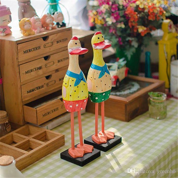 северные сырье древесное украшения цвета симпатичные duck ручной резьбой творческие статьи