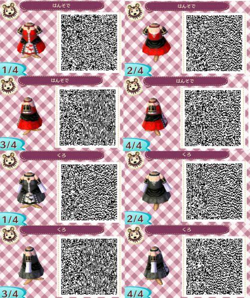 Black dress qr code scanning