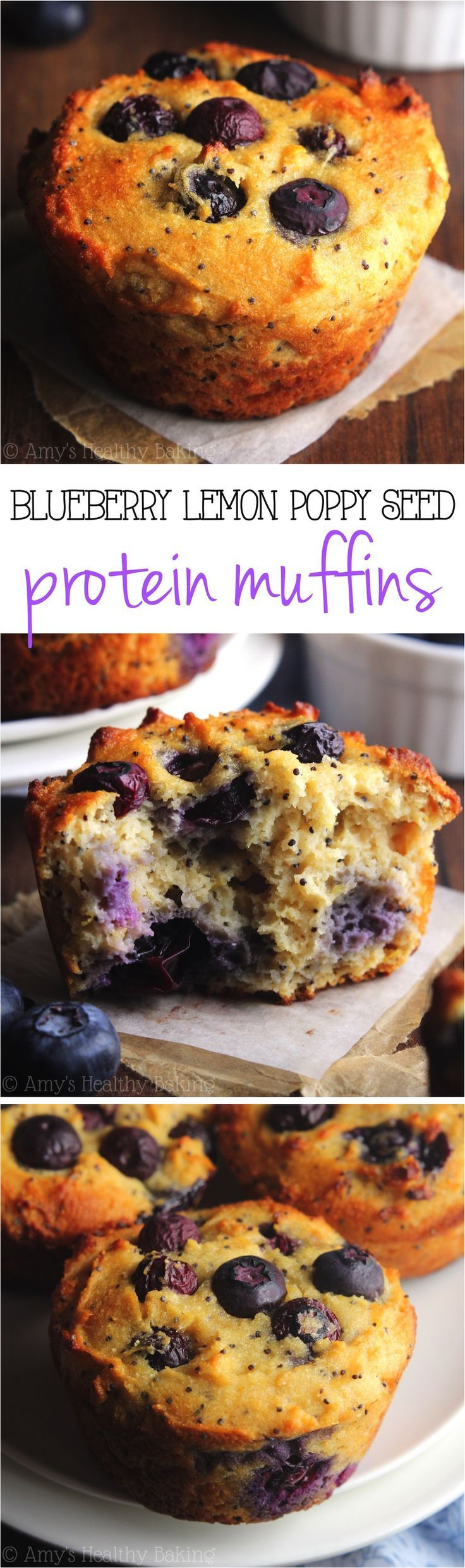 A quick, easy & healthy breakfast treat! They're packed with 8g+ protein & practically taste like cupcakes!
