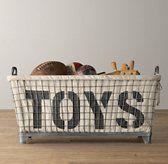 Industrial Basket & Toys Liner | Restoration Hardware Baby and Child