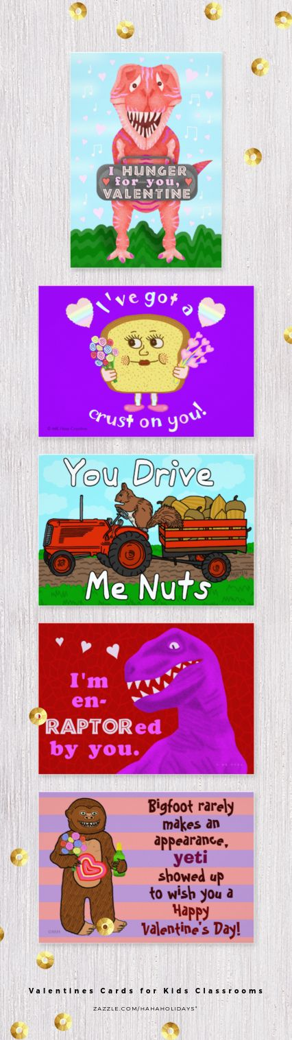 Kids Valentine's Day School Classroom Cards Collection on Zazzle