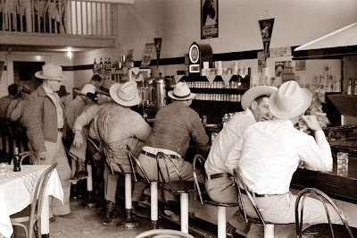 A diner in Junction, Texas in 1940
