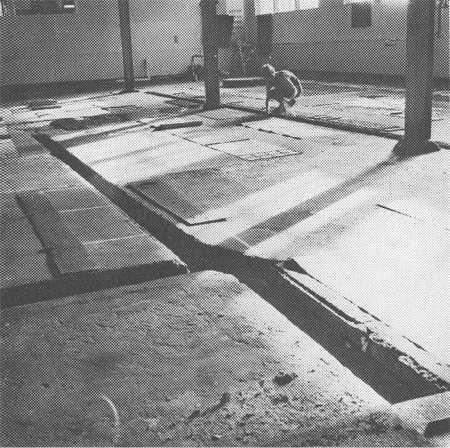 PAULINE RHODES Extensums: Ground Runs - Stained Ground (Work in progress) Photograph by Jurgen Waibel, Art New Zealand