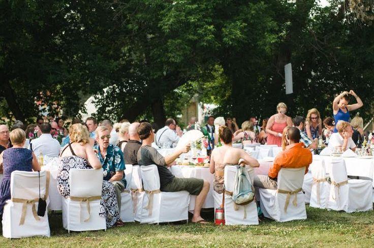 Outdoor reception in Edmonton's countryside at Prairie Gardens. www.PrairieGardens.org