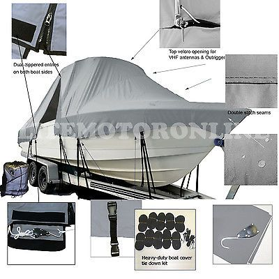Cape Horn 26 Offshore Center Console Fishing T-Top Hard-Top Boat Cover