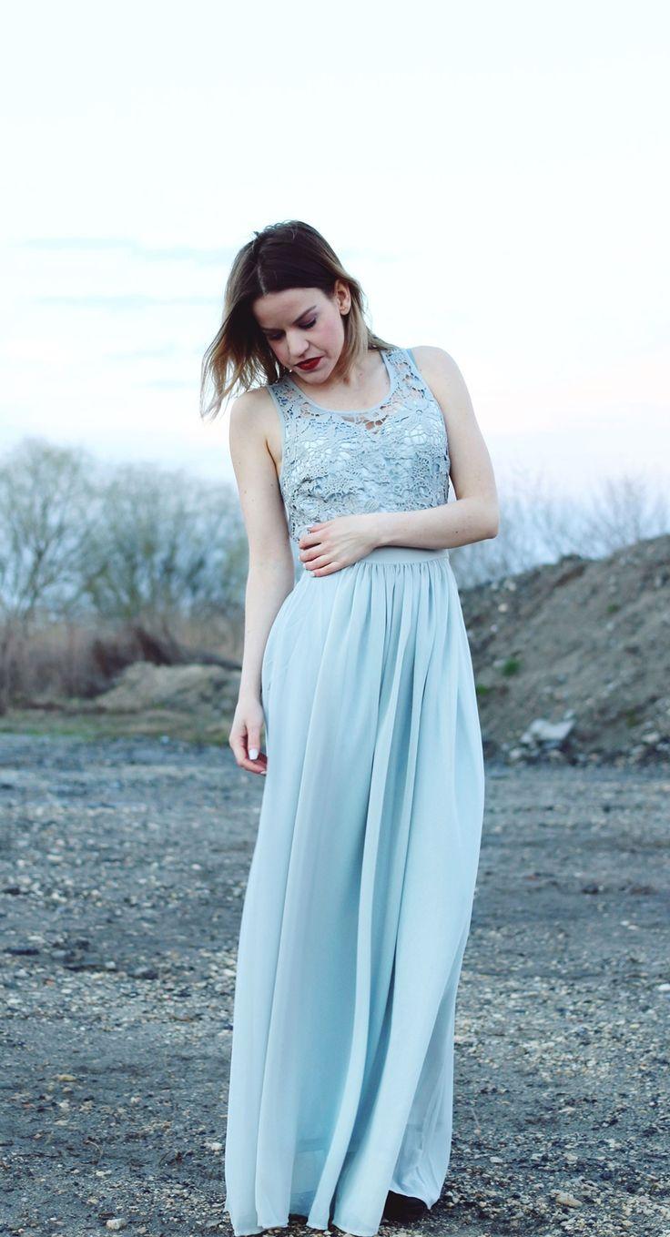 lace top crochet maxi dress