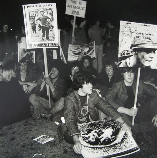 Ans Westra Anti-Vietnam Protest, Marion Street, Wellington, 1971