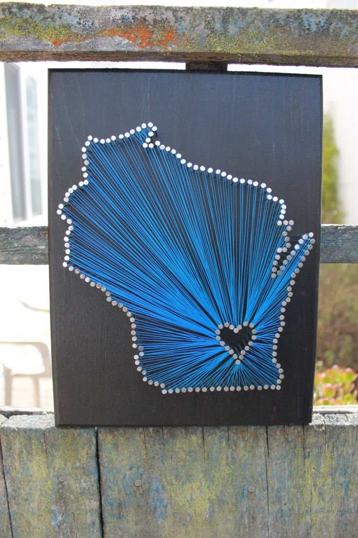 Wisconsin State String Art, any state available by California2Catalonia on Etsy