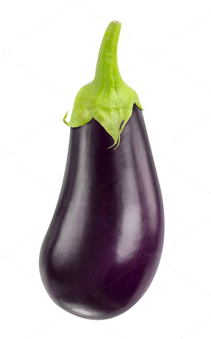 One isolated eggplant ~ Food & Drink Photos on Creative Market
