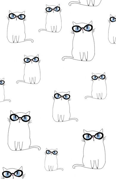 Short-sighted cats  #pattern #kid