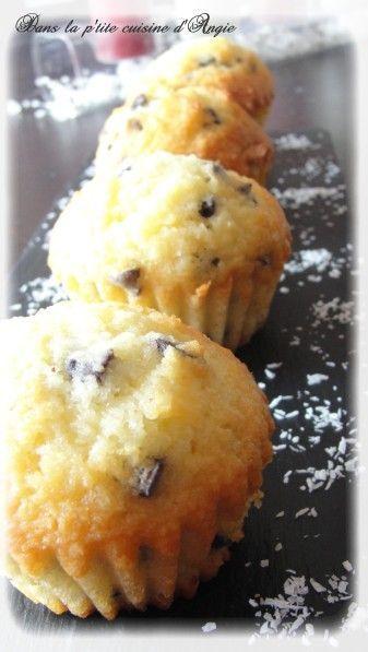 Muffins noix de coco aux pépites de chocolat, façon Bounty ! - Dans la p'tite cuisine d'Angie ...