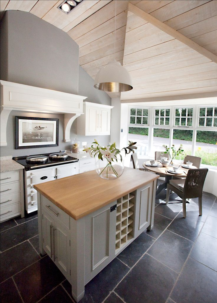 The White AGA Total Control In Kitchen.