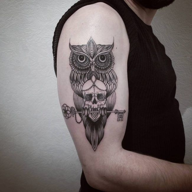 The 100 Best Owl Tattoos For Men Improb Owl Tattoo Tattoos For Guys Mens Owl Tattoo