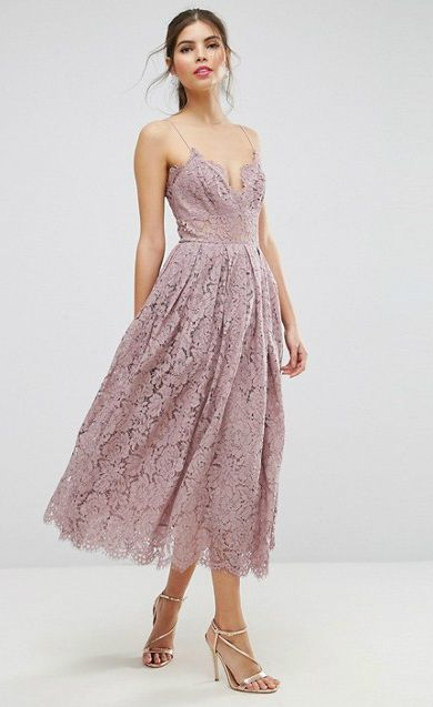 Lace Midi Dresses. Wedding Guest ...