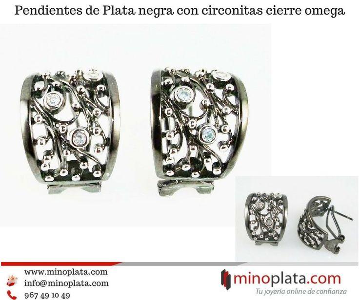 ¡¡Recomendamos!! Estos originales Pendientes, un diseño que no encontrarás en otras joyerías. Están realizados en Plata negra con circonitas y cierre omega. Entrega en 24 horas. Su precio: 70 € Más detalles: https://www.minoplata.com/pendientes/pendientes-de-plata/pendientes-plata-y-piedras/pendientes-de-plata-de-ley-y-rodio-negro-con-circonitas  #earrings #earring #earringsoftheday #jewelry #fashion  #earringaddict #cute #gorgeous #trendy #earringfashion #pendientes #minoplata #plata #women