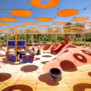Shading Idea For Futsal And Active Experimental Play Areas Indigo Park Playgrounds By Ballistic Architecture Machine BAM Landscape Works