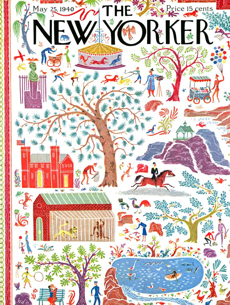 Stories of Spring - New Yorker Cover by Artist Joseph Low, originally published on May 25th, 1940. The covers of The New Yorker have entertained and enlightened the magazine's readers for nearly a cen