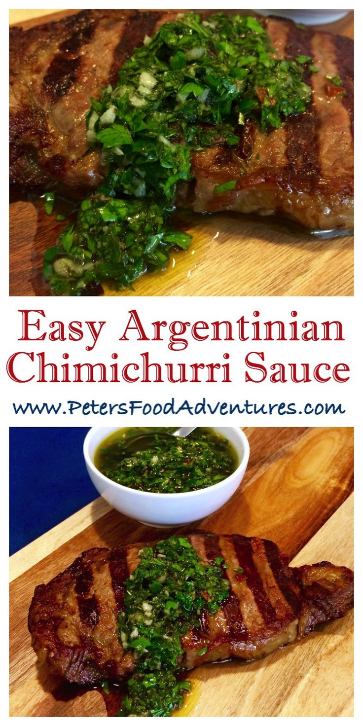 This traditional Argentinian Chimichurri Recipe uses simple ingredients, making the perfect addition to your grilled meats and steak - Argentinian Chimichurri Recipe
