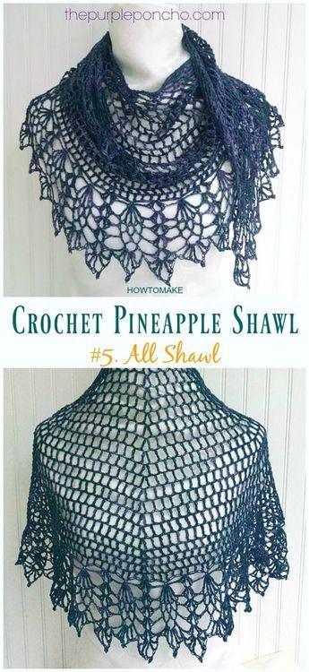 Crochet Pineapple Shawl Free Patterns Tutorials Crochet