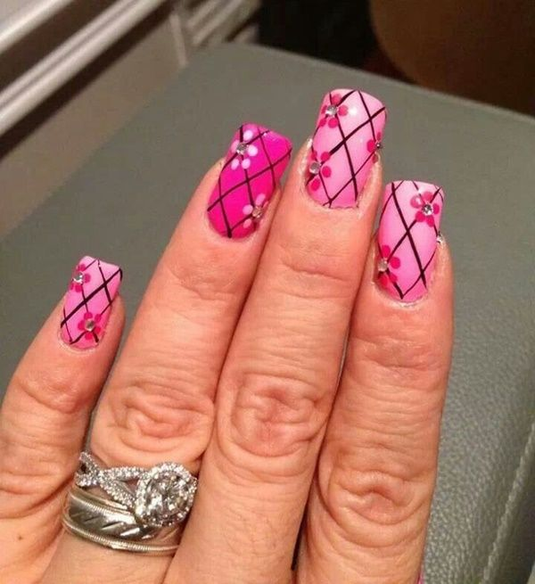 Simple Nail Art Using Toothpick: 36 Easy Flower Nail Art Designs For Beginners