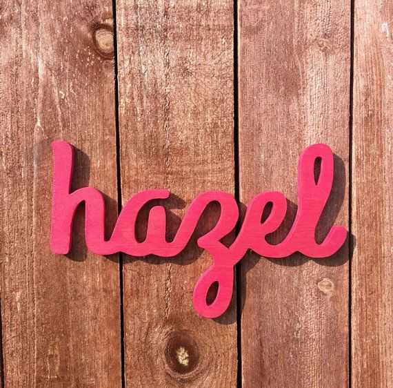 Check out Custom Wooden Name Sign - Nursery - Baby Name - Wedding - Shower Gift - Personalized Cursive Name - Hand-cut on lucysletters123