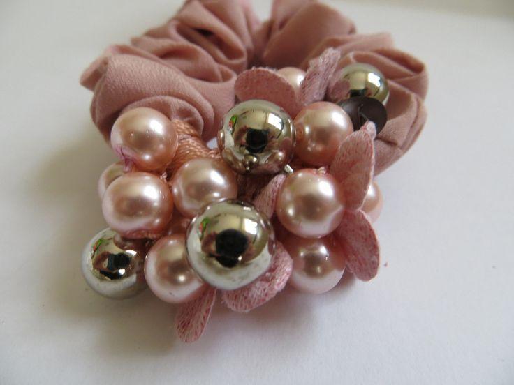 Pink Bunny Ear Flower Hairband