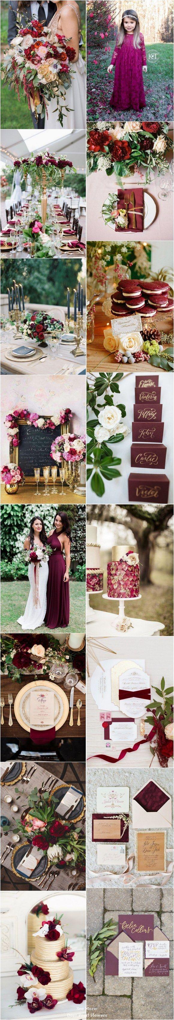 Maroon and cream wedding decor   best Weddings images on Pinterest  Wedding ideas Bridal and