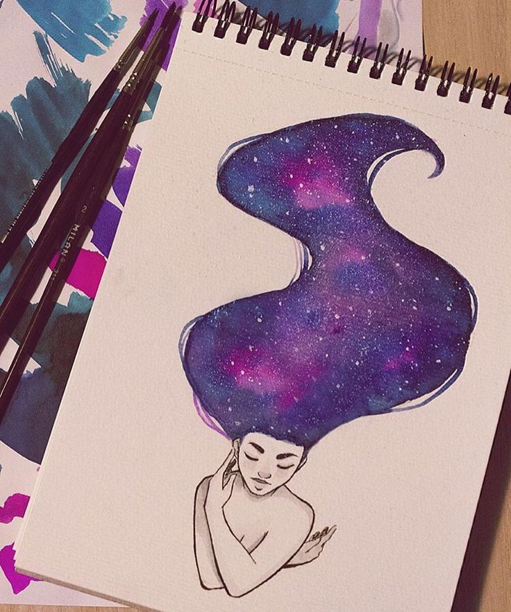 Картинки в стиле космос для срисовки