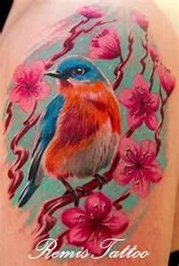 Tagged With Bird Cherry Blue Blossom Tattoo