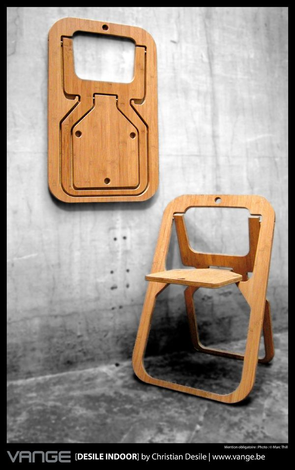 Foldy chair! Some people are so smart....I don't necessarily want one, but I think it's very clever!