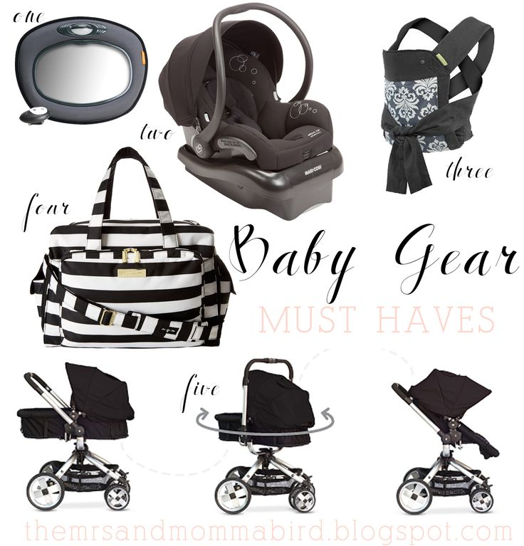Baby Must Haves | top 5 baby gear must haves. stroller, car seat, baby carrier, baby mirror, diaper bag. themrsandmommabird.blogspot.com