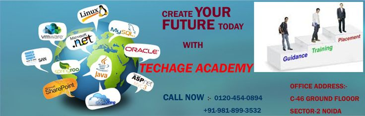 Create Your Future today.....with TechAge Academy  Contact Details:- TechAge Labs Academy C-46 (GF), Sector-2, Noida-201301. Phone no.: 0120-4540894,+91-981-899-3532 Email    : info@techagelabs.com          : hr@techagelabs.com Website  : http://www.techagelabs.com/training/