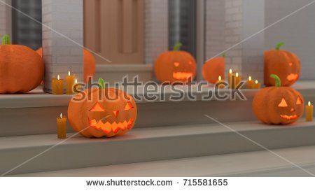 Halloween Home Decoration - (3D rendered)