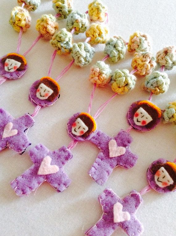 Rosary favors for first holy communion on Etsy, $8.00