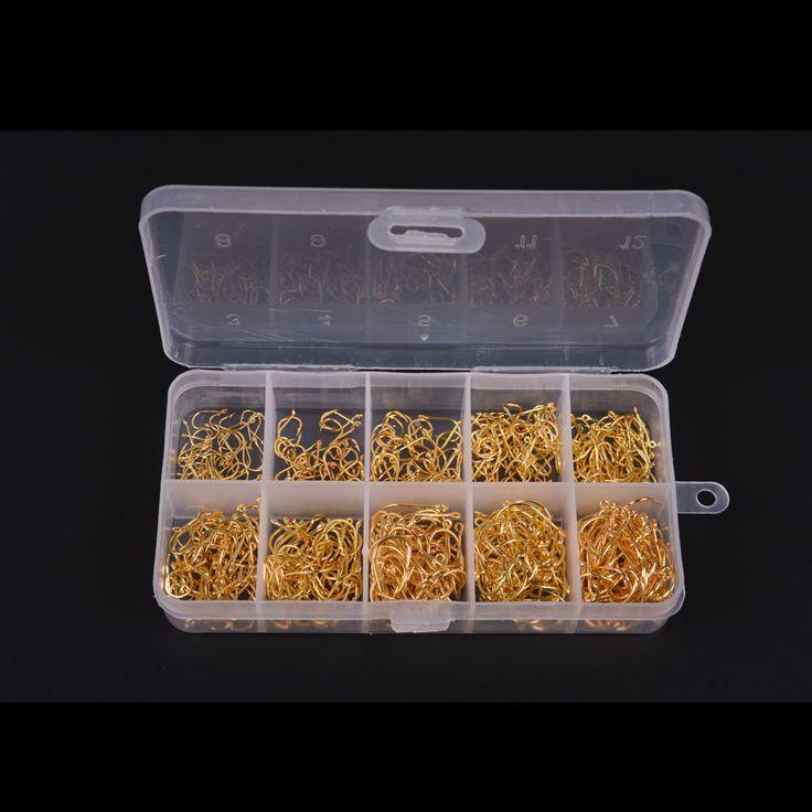 Lixada 600pcs/lot Carbon Steel Fishing Hook Jig Hooks Fishhooks with Hole Fish Fly Fishing Tackle Box 3# -12# 10 Sizes