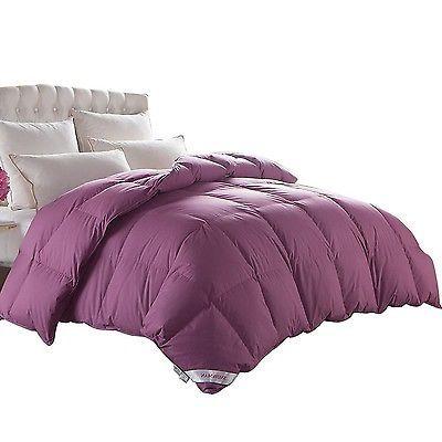Snowman Hypoallergenic Cotton Duvet Insert Goose Down Queen Comforter Purple