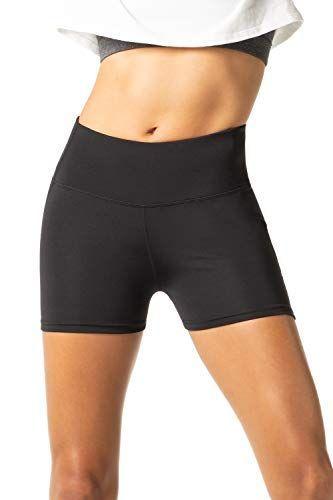 3339c480023 LAPASA Short Sport Femme Yoga Fitness Running Gym Élastique Stretch Gaine  Large L09 (38 M (Tour de Taille   64-74 cm) Noir (Double Épaisseur))