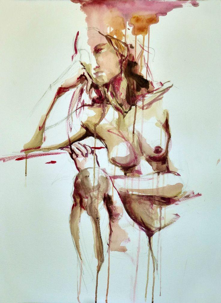 """Cristina Carturan  """"Sara"""" - Acrilico 50x70 cm"""