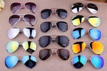 MISTURAR Cores Frete Grátis 2017 Sale Designer Azul Espelhado Óculos De Sol Men Silver Mirror Vintage Sunglasses Mulheres Óculos Hot alishoppbrasil