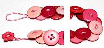 Knopenketting is een knutselidee uit de categorie Moederdag