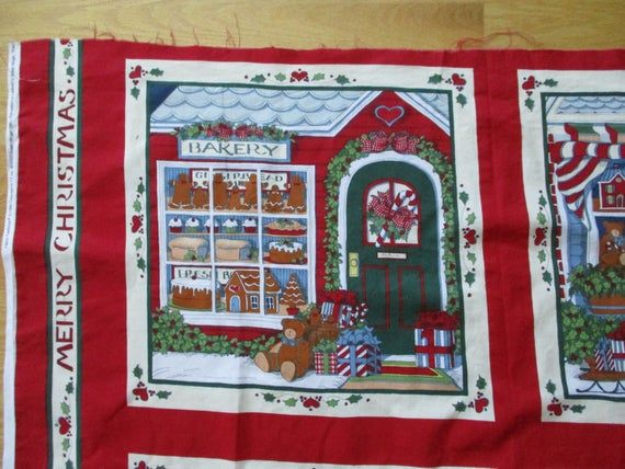 CHRISTMAS PILLOW PANEL RED