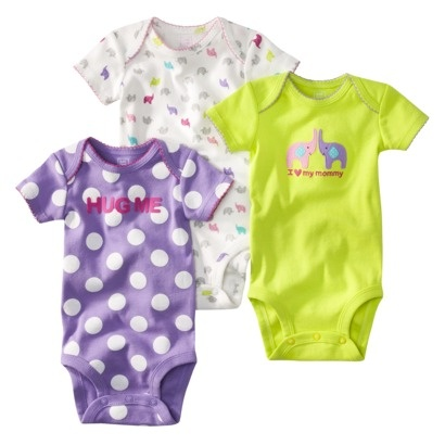 JUST ONE YOU ™ Made by Carters ® Infant 3 Pack Bodysuit Set - Purple.  Tam: RN a 24 Meses  Precio: $8.99