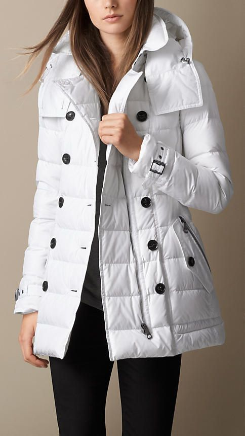 Burberry Brit Down-Filled Coat with Detachable Hood