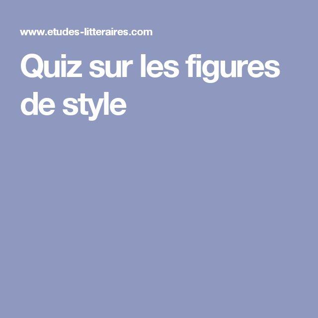 Quiz sur les figures de style