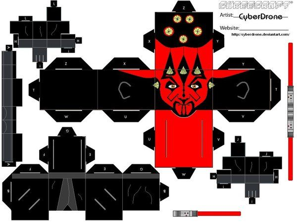 Cubee - Darth Maul by CyberDrone.deviantart.com on @deviantART