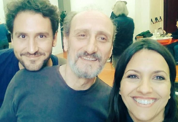Álex Gadea con Jose Luis Gil (Cyrano) e Ana Ruiz (Roxane)